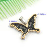 Free Shipping 3pcs/lot Superb IPG/IPB 316L S.Steel Butterfly  Pendant  PL575