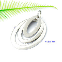 Free Shipping 3pcs/lot  High-quality S.Steel Oval Pendant PL350