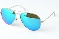 Womens and Mens Sunglasses Blue Mirror Lens Driver Sunglasses,Fishing Sunglasses 3025 Free Shipping