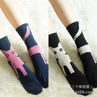 10pairs/lot, Free shipping, casual cotton socks cartoon women's socks wholesale