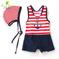 baby girls cartoon striped split anchor red caps children boy swimwear trunks kids boys one piece swimsuit clothing set