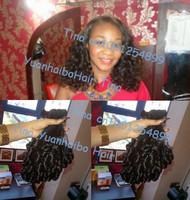 "6A quality 3pcs/lot #1b virgin peruvian tip curl aunty funmi human hair free shipping 8""-28"" Mixed length"