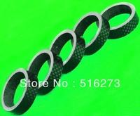 5 Pcs Full Carbon 3K Headset 1-1/8 spacer 10mm