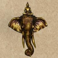 Resin elephant wall mural home decoration Luxury Retro