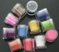 1Pc Price (12color for choice)Charm Fuzzy Flocking Velvet Design Powder Nail Polish Art Tip  nail art decoration color randomly