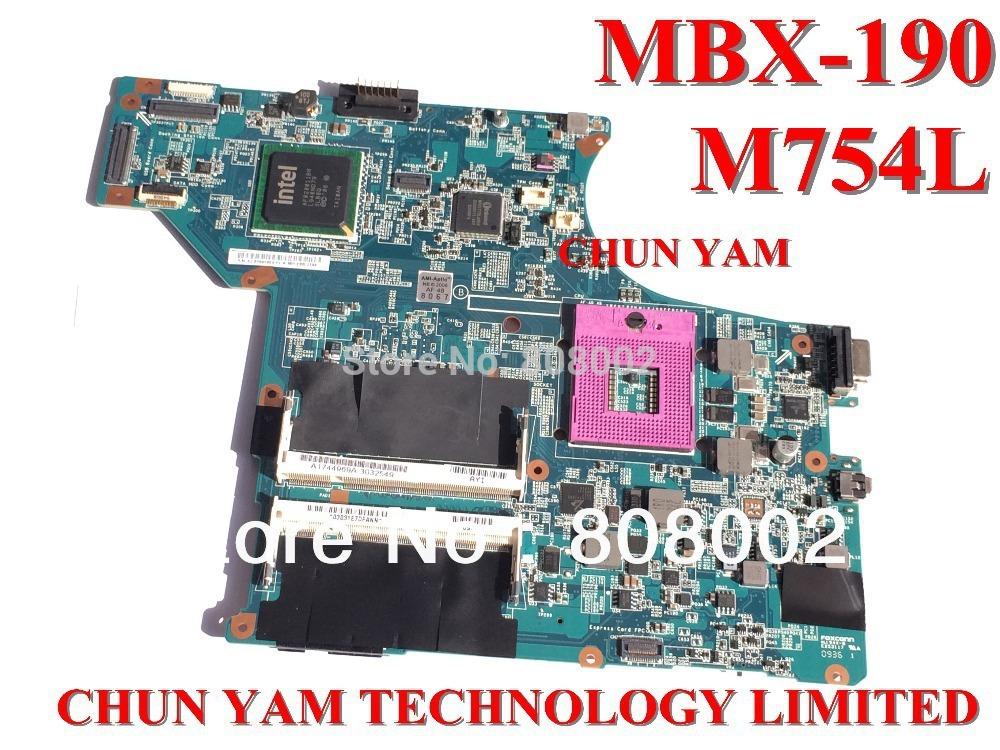 Материнская плата для ПК OEM mainboard mbx/190 M754L Sony Vaio vgn/sr PC 1 p/0096j02/8010 MBX-190 M754L
