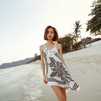 Fashion Woman Lady Sundress Unique Sexy Beach Dress Short Mini Swimwear Casual  F01465