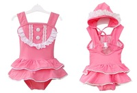 wholesale baby girls children swimwear kids sexy one piece swim bikini swimsuit clothing set cheap cute lace rose bathing suit