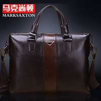 New Arrival 2014 cowhide fashion commercial horizontal handbag, men messenger bag genuine leather men briefcase, laptop bag