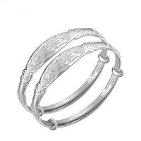 S990 999 fine silver bracelet child baby pure silver bracelet baby bracelet
