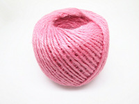 New Arrival~~ Pink Color Jute Twine Jute Cord 3Ply Decorative Handmade Accessory Hemp Rope Dia 1.5mm