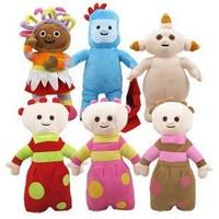 6 pcs/set Hot sale cartoon Stuffed toys In the night garden Plush doll Kids girls birthday gifts Free shipping