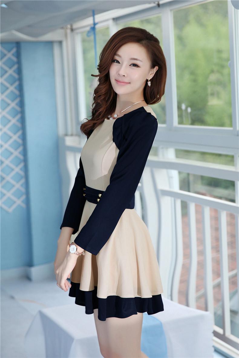 Женское платье One-piece dress one-piece dress women's short skirt 159