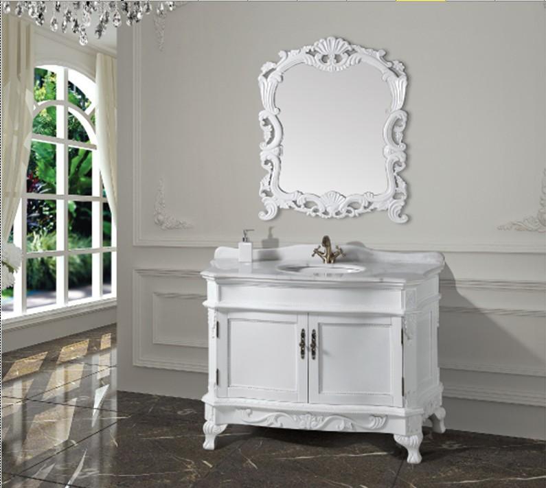 Muebles De Baño Antiguos:Aliexpresscom: Comprar Moda blanco mueble de baño antiguo con espejo