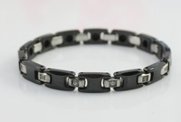 Fashion Jewelry Magnetic 316L Stainless Steel Bracelet Black Color Cool Style For Men 8.5'' Free Shipping TG275