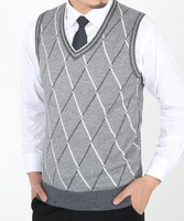 8Colors 40sizes Mens Sweaters And Pullovers Cardigan Men Desigual Sweater Vest  Men's Argyle Sweater Vest