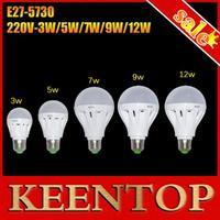 Ultra Bright Led Spotlight 12W 9W 7W 5W 3W E27 Smd5730 220V Bulb Light Led Lamps 360 Degree Bubble Ball Bulb Higher Quality 6Pcs