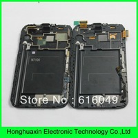 DHL/EMS Free shipping  With frame white color - original FOR Samsung Galaxy Note 2 N7100  Full LCD Digitizer assembly,hot sale!