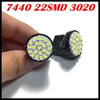 Free shipping 10pcs/lot ,Car led lamp 7440 22SMD 3020 1206 Led light turn signal reverse light,W21W LED car turn signal lamp