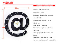 home decor iron clock quartz wall clock