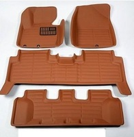 Free shipping for 2013 Hyundai Santa fe special floor mats Santa fe 5seat/7seats wear-resisting waterproof eco carpets