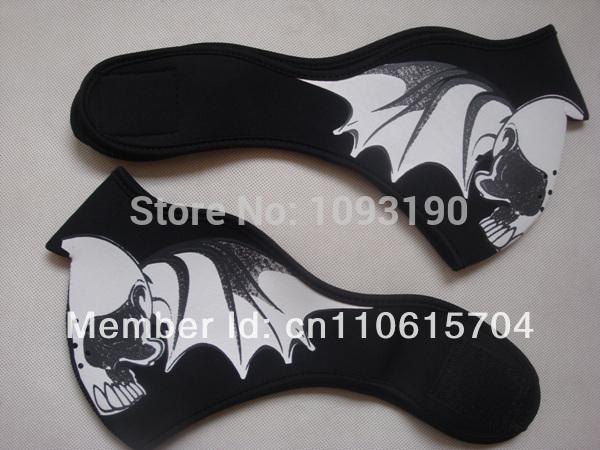 New style Bat Neoprene Half Face Mask Free shipping China post mail(China (Mainland))