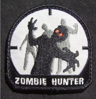 ZOMBIE HUNTER ARMY MORALE BLACK OPS SWAT LOGO TV BIKER PATCH Iron Sew On Embroidered Fashion Badge Applique