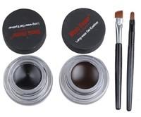 Music Flower Eye Gel Eyeliner Brown&Black 3sets 6pcs 24hours Long Lasting Eyes Make Up Waterproof  Eye Liner Makeup Eyes Eexport