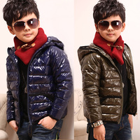Male  boys wadded jacket winter children's clothing 2013 new cotton-padded thick kids warm winter outwear boys