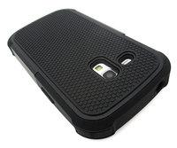 Black Heavy Duty Protective Cover Case Samsung Galaxy S3 Mini GT-i8190
