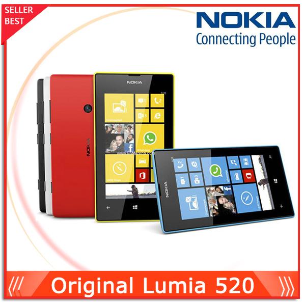 """Telefono originale Nokia Lumia 520 telefono cellulare dual 8gb rom 5mp gps wifi 4,0""""IPS telefono sbloccato finestre"""