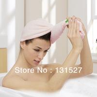 4 Pieces a Lot promotion soft bamboo fiber 60*23cm brandmagic hair drying towel quick dry adult  shower cap