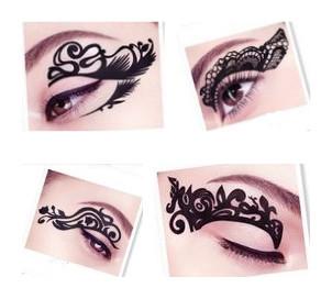 2014 new fashion 5 designs chosen eye art tattoos temporary stickers eye liner DIY decorations(China (Mainland))