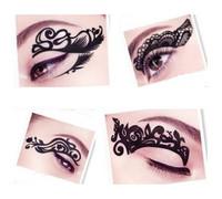 2014 new fashion 5 designs chosen eye art tattoos temporary stickers eye liner DIY decorations