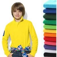 Boys Sports Shirts Long sleeve Turn-down Collar Children Tennis Shirt Colorful New Spring Autumn Kids Girls T shirt clothes