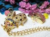 Mining honey bees Genuine Capacity USB Flash Drive, Heart Pen Driver, Gift USB Flash Disk, Jewelry USB flash drive