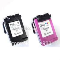 2 Pcs For HP 121 121XL Black & Color ink Cartridges For HP Deskjet 1050 2050 F2430 F2476 F2480 F2483 F2488 F2492 printer