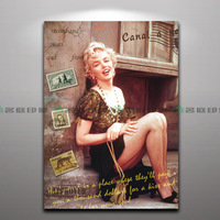 Spray Painting of Marilyn Monroe for home decoration bar or hotel decoration Painting Core Only,NO frame