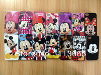 Free shipping 10pcs/lot cartoon case Minnie Mickey case for iphone 4s 4 hard plastic case