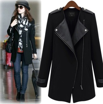 Пальто Новый 2014 шерстяная верхняя одежда средней длины женщин