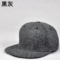 Adult winter popular good quality hiphop flat blank wool felt snapback hats