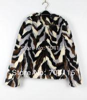 Muti-Colour Many Fake Fur Coat