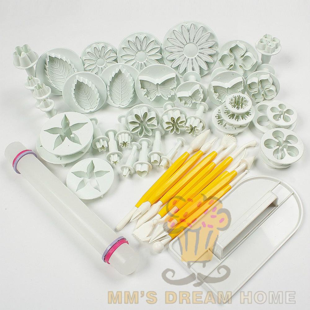 cake tools 14sets 46pcs flower fondant cake sugarcraft decorating