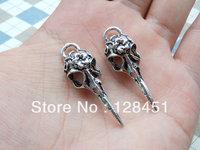 Free shipping  Flying Bird 50 pcs Antique Silver Charm Pendants bird head charm