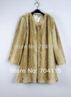 Sweet Rabbit Fur Medium-Long Sploshes Faux Coat