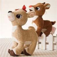 Rudolph lovers small christmas elk doll plush toy 2  for child