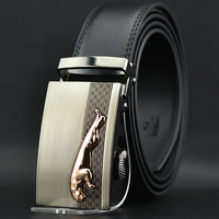 2014new man belt Strap alloy leopard automatic buckle belt male genuine leather belt strap commercial