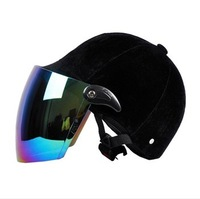 Motorcycle electric bicycle helmet velvet four seasons general male Women