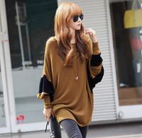 ladies shirts 2014 women cropped blouse batwing sleeve blouse women fashion brand o-neck korean style  free shipping 015