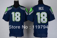 Free Shipping Cheap Wholesale Authentic Elite American Football Jerseys #18 Sidney Rice Jersey Embroidery Logo Mixed Order